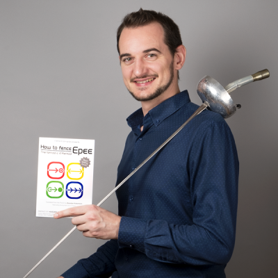"Clement Schrepfer, author of ""How to Fence Epee - The Fantastic 4 Method"""